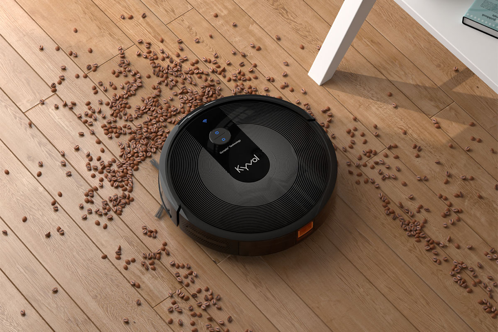 A mini robot vacuum to deal with the dirt:
