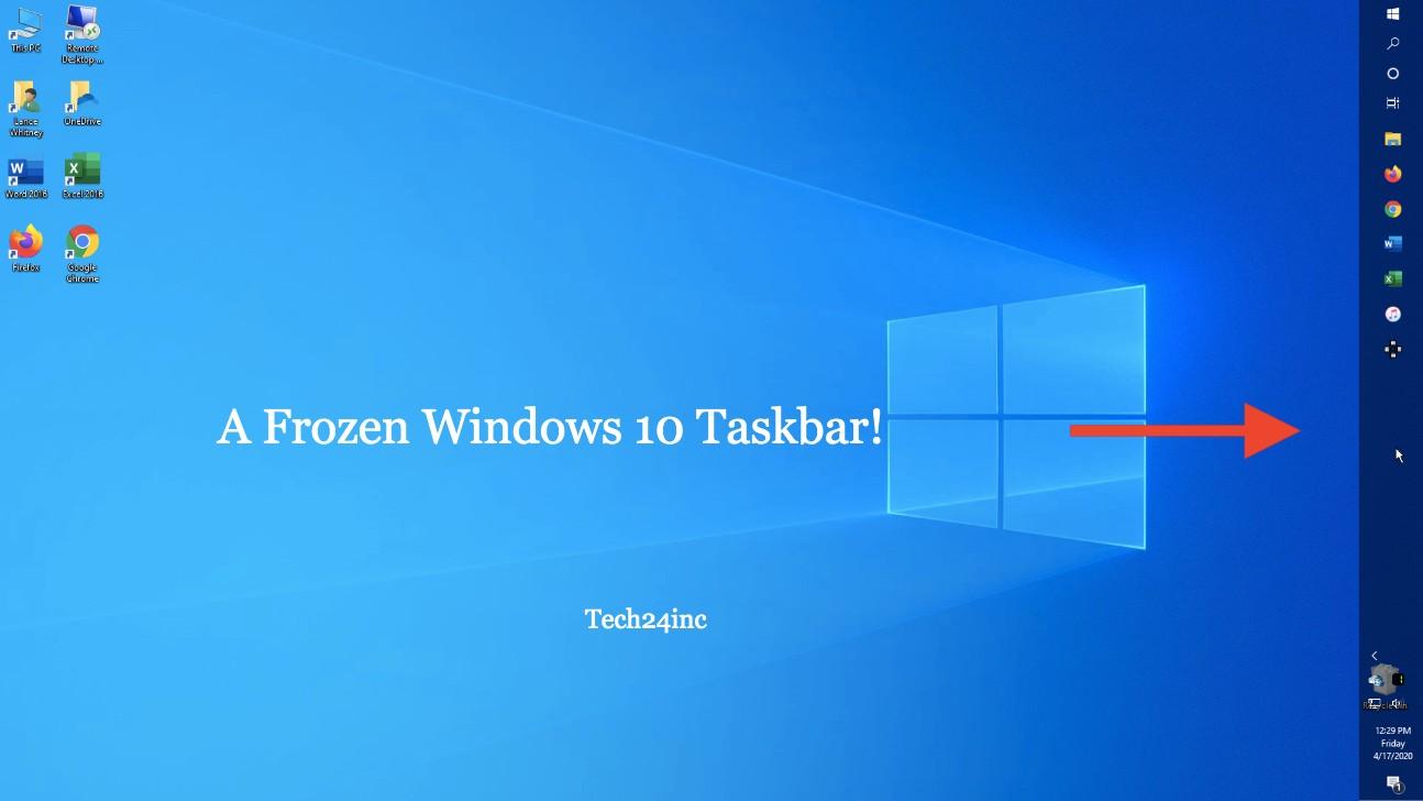 windows 10 taskbar frozen