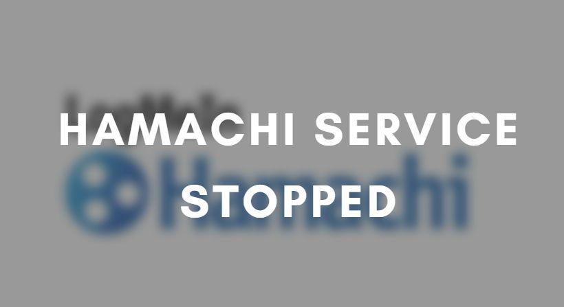 hamachi service stopped